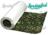 CLASSIC GREEN CAMO PATTERN HTV Green Army Camo Heat Transfer Vinyl 12''x5 Yard ROLL Camo for Shirts