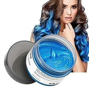 Amazon.com: MOFAJANG Hair Color Wax, Instant Blue Hair Color Wax ...