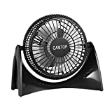 CAMTOP USB Fan with 2 Speed 5'' Quiet Small Personal Desk Fan for Home and Office