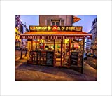 Cafe in Paris Wall Art, Wall Picture, Wall Photo, 8x10 Print on Fine Art Paper with an 11x14 Mat and Backing