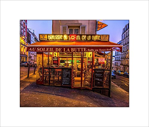 Cafe in Paris Wall Art, Wall Picture, Wall Photo, 8x10 Print on Fine Art Paper with an 11x14 Mat and Backing by David Clark Photography