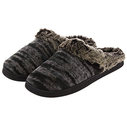 Aerosoles Women's Cushioned House Slippers Wool Mule Clogs Indoor Outdoor Shoes Gray Ombre