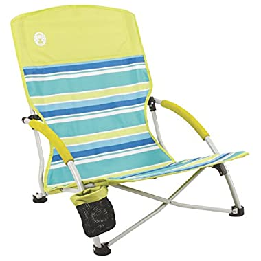 Coleman Beach Deluxe Low Sling Chair, Citrus