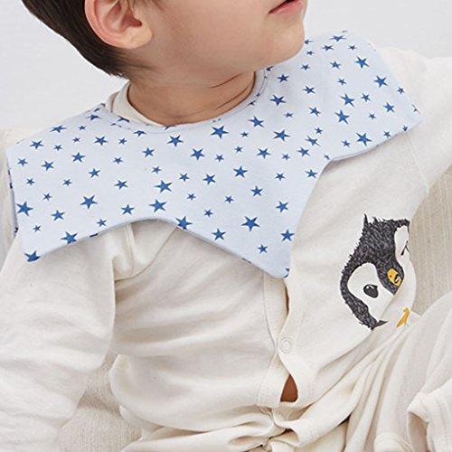 Befaith Bebé impermeable recién nacido Dribbler babero con Snap Toddler burp paños 362 grado rosado