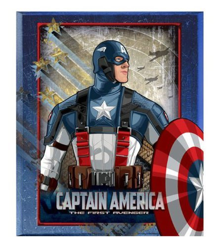 Blanket Throw Raschel 50x60 Micro (Captain America Micro Raschel Blanket - Thicker Than Fleece Throw ~ The First Avenger)