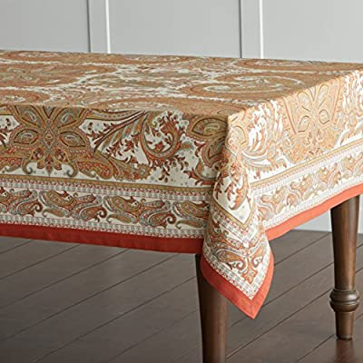 "Maison d' Hermine Kashmir Paisley 100% Cotton Tablecloth 60 - inch by 120 - inch. - Designed in France 100% Cotton and machine washable. Package includes - 1 Tablecloth This Kashmir Paisley tablecloth featured in the list of ELLE DECOR's ""THE BEST THANKSGIVING TABLECLOTHS FOR A MEMORABLE FEAST"". - tablecloths, kitchen-dining-room-table-linens, kitchen-dining-room - 51tMBbzI5GL. SS400  -"