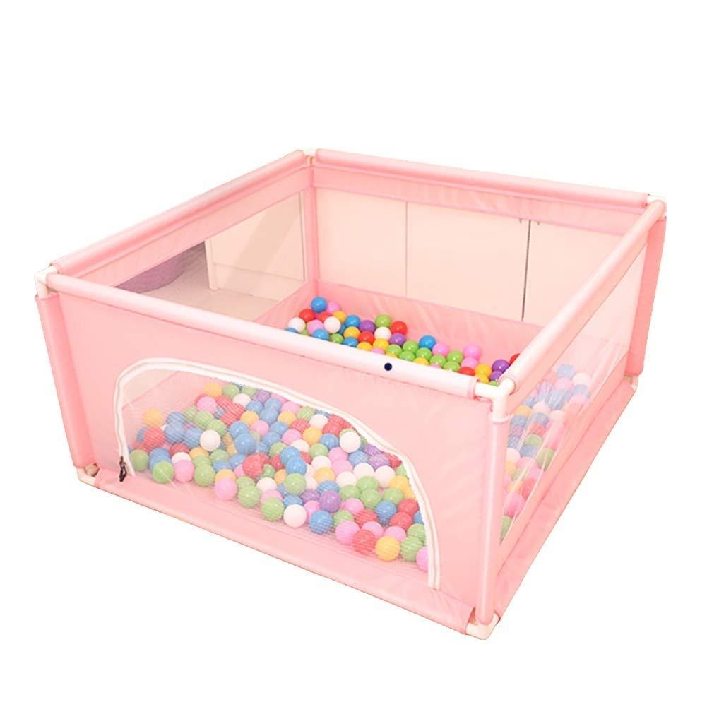 子供の遊び場屋内折りたたみ赤ちゃん安全フェンス赤ちゃん幼児フェンスホームマリンボールプール子供ポータブル120×120×62センチ (色 : ピンク) B07RM3GN67 ピンク