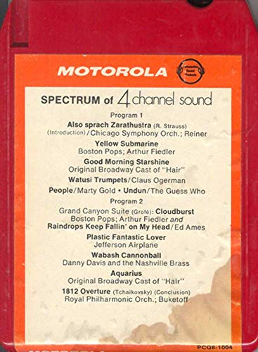 Motorola Spectrum of 4 Channel Sound Car Player Demo Quad 8 Track Tape