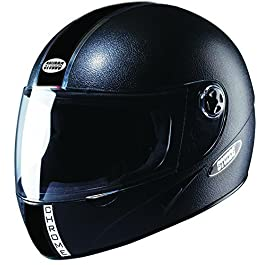 Studds Chrome Economy With Tinted Visor Unisex Helmet (Black, X-Large)