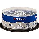 Verbatim M-Disc BDXL 100 GB 4X with Branded Surface - 25 Pack Spindle 98914 by Verbatim
