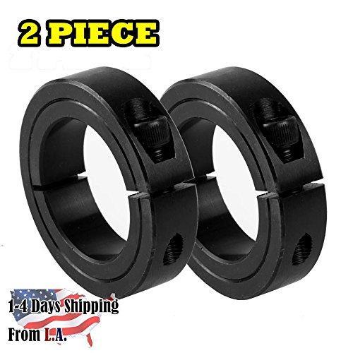 "1-1/2"" Bore Single Split Shaft Collar Black Oxide Set Screw Style (2 PCS)"