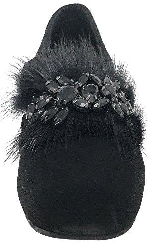 Pena en Alma Bailarinas Negro Manoletinas I17371 Mujer SOqpfB