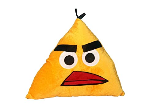 Briltech Yellow Angry Bird Emoji Face Plush/Pillow - 11 inches
