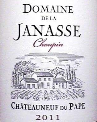2011 domaine de la janasse chateauneuf du pape cuvee - Office de tourisme chateauneuf du pape ...