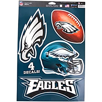 buy online c9a74 6f705 WinCraft Official National Football League Fan Shop Licensed NFL Shop  Multi-use Decals (Philadelphia Eagles)