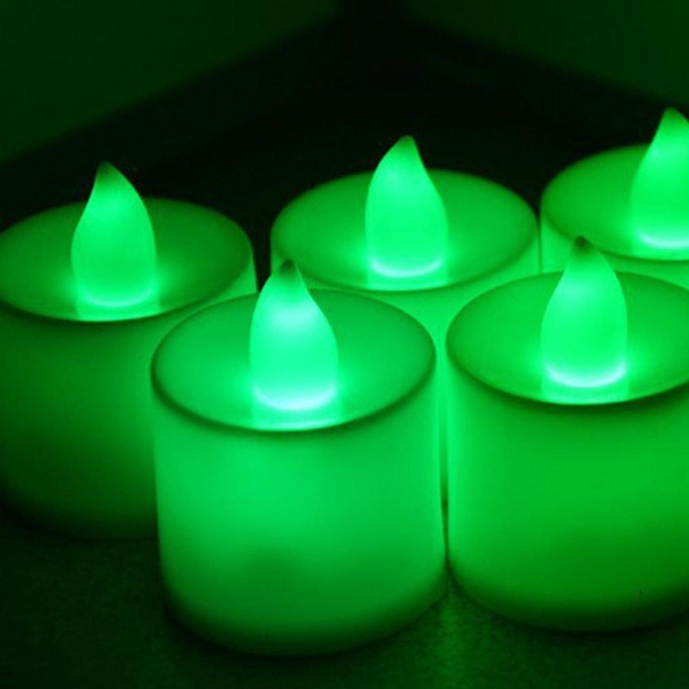 junbuoom LED Fakeタイマー色クリスマスちらつきコントローラ安全ランプウェディングパーティークリスマスPropose LEDキャンドルランプLEDライトFlameless グリーン NA  グリーン B07BCB7NR3