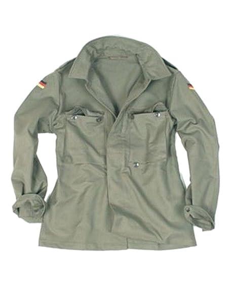Bundeswehr molesquín Chaqueta usado verde 1 : Amazon.es: Ropa y accesorios