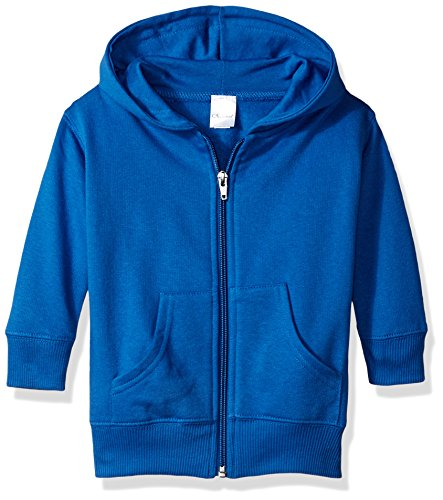 (Clementine Baby Infant Premium Fleece Zip Sweatshirt Hoodie, Royal, 12MOS)