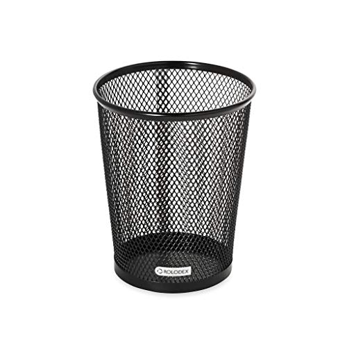 (Rolodex Nestable Jumbo Wire Mesh Pencil Cup, 4 3/8 dia. x 5 2/5, Black)
