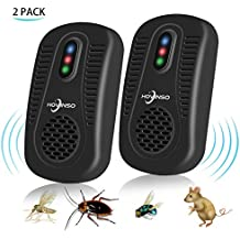 Ultrasonic Pest Control Repeller 2 Pack Electronic Mice Repellent Insects Mice Repel Non-Toxic Environmentally Friendly People and Pets Safe