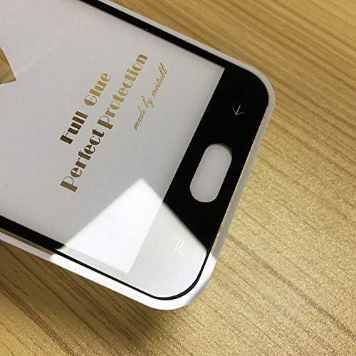 LGYD 25 PCS Full Screen Full Glue Anti-Fingerprint Tempered Glass Film for Galaxy J2 Pro 2018 Screen Protector Film Black Color : Black