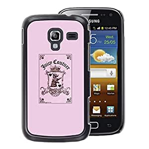 A-type Arte & diseño plástico duro Fundas Cover Cubre Hard Case Cover para Samsung Galaxy Ace 2 (Pink Funny Joker Card Poker Puppy Pink)