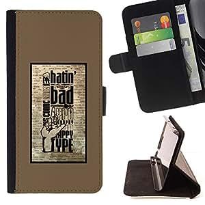 For Samsung Galaxy S4 Mini i9190 (NOT S4) Case , Hatin Mala- la tarjeta de Crédito Slots PU Funda de cuero Monedero caso cubierta de piel
