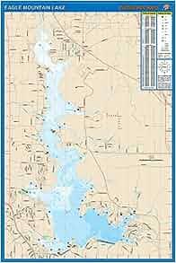 Eagle mountain lake fishing map 0071365307097 for Eagle mountain lake fishing