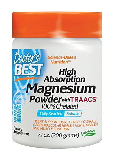 Doctor's Best High Absorption Magnesium Glycinate Lysinate, 100% Chelated, Non-GMO, Vegan, Gluten Free, Soy Free,  200 Grams