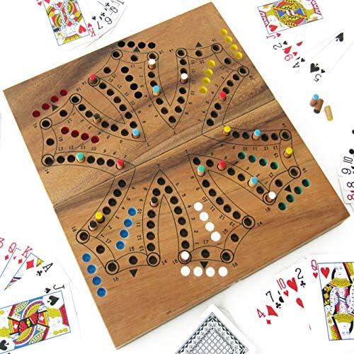 Juego de TOC a 6 color o Tock Version de 2 a 6 jugadores juegos de sociedad familiar (madera maciza marca francesa ledélirant – Norma CE – Juego de viaje – pequeños
