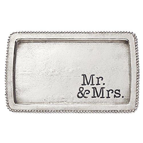 Mud Pie Mr. & Mrs. Metal Trinket Tray