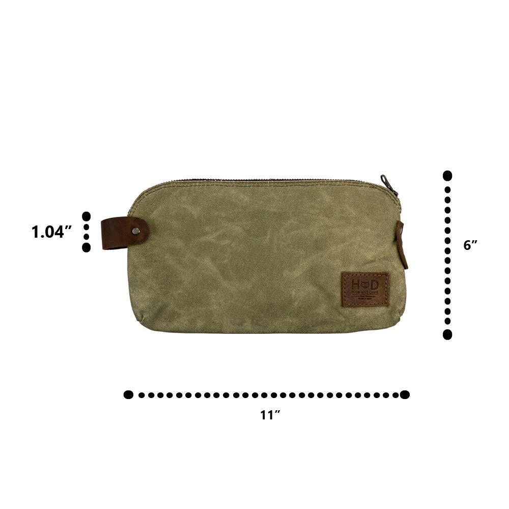 Waxed Canvas dopp leather wash bagleather bushcraft camping EDC firekit storage