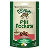 FELINE GREENIES PILL POCKETS Cat Treats Salmon Flavor, 1.6 oz. Pack (45 Treats)