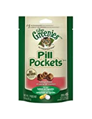 FELINE GREENIES PILL POCKETS Cat Treats, Salmon, 45 Treats, 1...