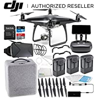 DJI Phantom 4 PRO+ PLUS Obsidian Edition Drone Quadcopter Includes Display (Black) Virtual Reality Experience VR Ultimate Bundle