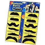 Katara 1622 - 12er Pack Verschiedene Klebe Bärte Selbstklebend, Schnurrbärte Mustache, Party Verkleidung Karneval