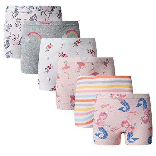 Boboking Baby Soft Cotton Panties Little Girls'Briefs Toddler Underwear (Pack of 6) 4-6years -