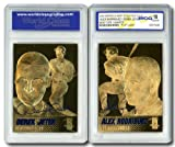 DEREK JETER/ALEX RODRIGUEZ Duo 2004 Sculpted 23KT Gold Flip Card - GEM MINT 10