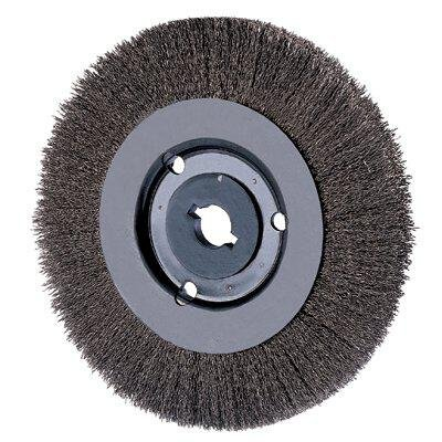 Pferd 80491 Narrow Face Crimped Wheel Brush, Stainless Steel Wire, 8