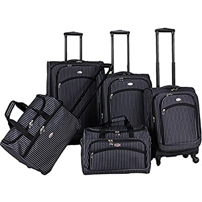 American Flyer Oxford 5-Piece Spinner Luggage Set