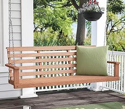 Fine Amazon Com Summer Decor Outdoor Bench Swing Outdoor Swing Machost Co Dining Chair Design Ideas Machostcouk