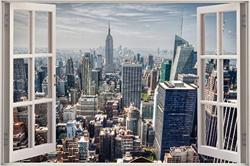 New York City Window Poster Art Print Modern Wall Decor