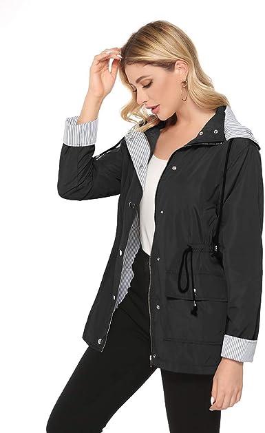 Raincoat Jacket Ladies Womans Mac Lightweight Hooded 12 14 16 18 SPRING SUMMER