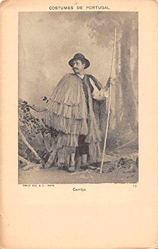 Costumes National Men (Portugal Carrica Man in National Costume Antique Postcard J64630)