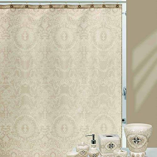 DS BATH Chantilly Lace Shower Curtain,Polyester Shower Curtain,Fabric Shower Curtain,Printing Shower Curtains for Bathroom,Fabric Bathroom Curtains,72