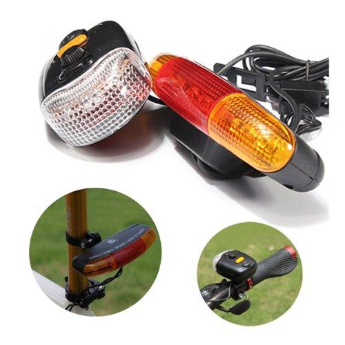 Pakhuis De alta calidad de 3-en - 1 7 LED Ciclismo señal de vuelta de la luz de freno Indicador Horn Warn