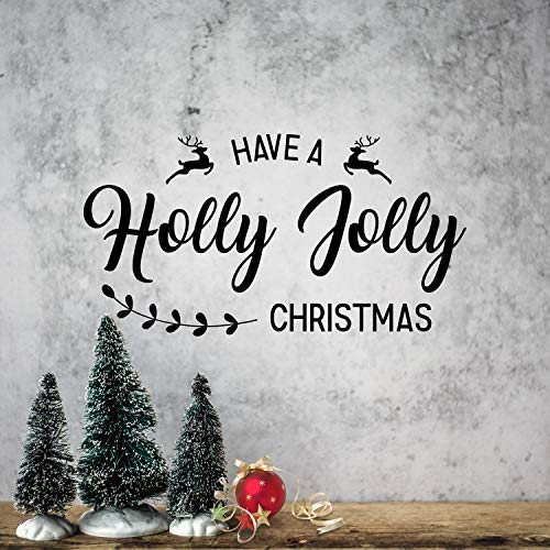 (Vinyl Wall Art Decal - Have A Holly Jolly Christmas - 12