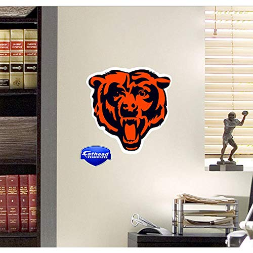 - NFL Chicago Bears Logo Fathead Wall Decal, 15 x 12-inches