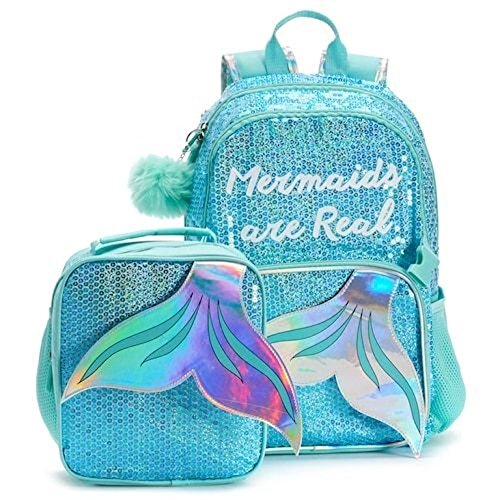 Mermaids are Real Sequin Backpack and Lunch Bag Set -