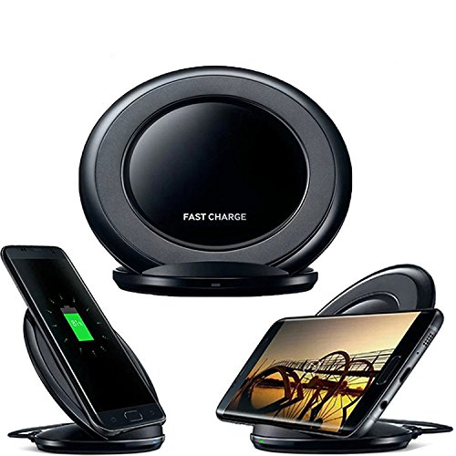 Fast Wireless Charger - QI Fast Wireless Charging Pad Stand for Samsung Galaxy Note 8 S8 Plus S8+ S8 and Standard Charge for iPhone X iPhone 8 iPhone 8 Plus - No AC Adapter -by Bingobox